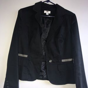 Black Ann Taylor blazer button up